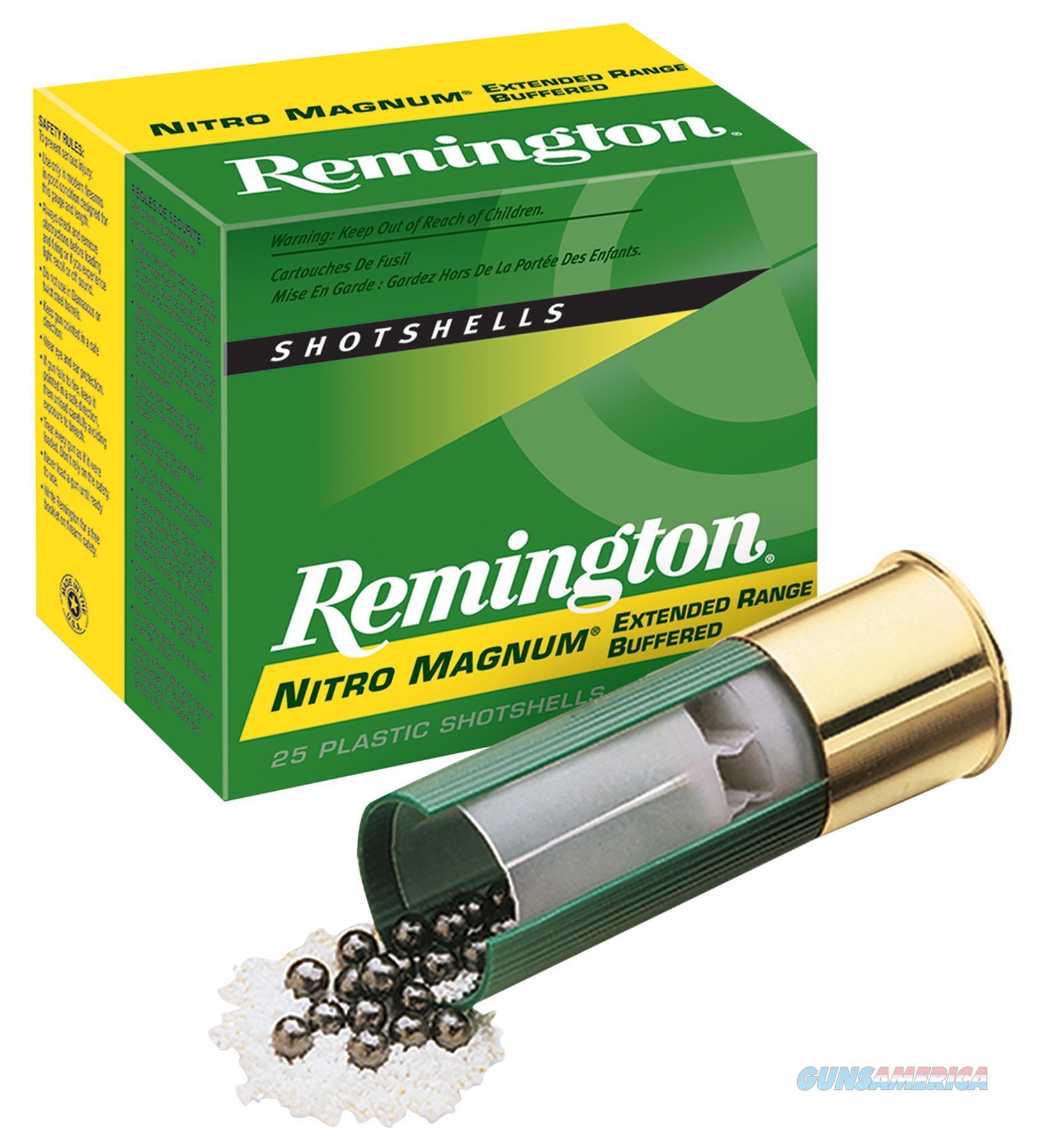 "Remington Ammunition Nm12s2 Nitro Mag Loads 12 Gauge 2.75"" 1-1/2 Oz 2 Shot 25 Bx/ 10 NM12S2  Non-Guns > Ammunition"