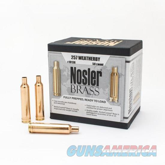 Nosler Brass 257Wby 50/Box Special Order 10138  Non-Guns > Reloading > Components > Brass
