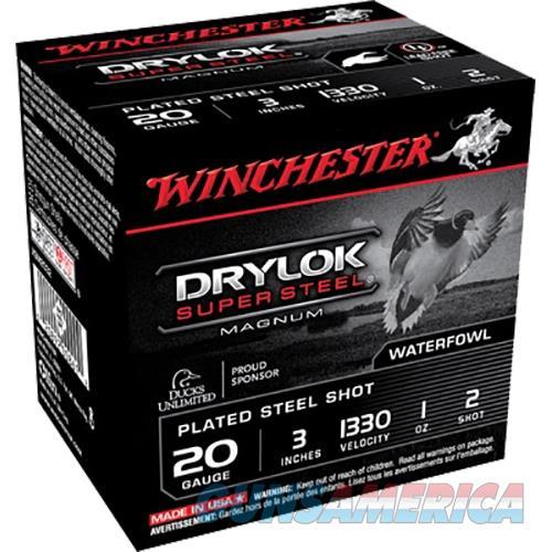Winchester Drylok Super Steel Magnum 20Ga 3'' 1Oz #2 25/Bx XSM2032  Non-Guns > Ammunition