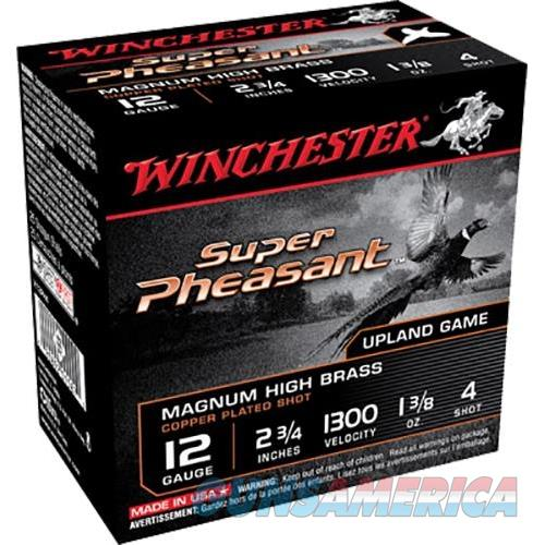 "Winchester Ammo X12ph6 Super Pheasant Plated Hv 12 Ga 2.75"" 1-3/8 Oz 6 Shot 25 Bx/ 10 X12PH6  Non-Guns > Ammunition"