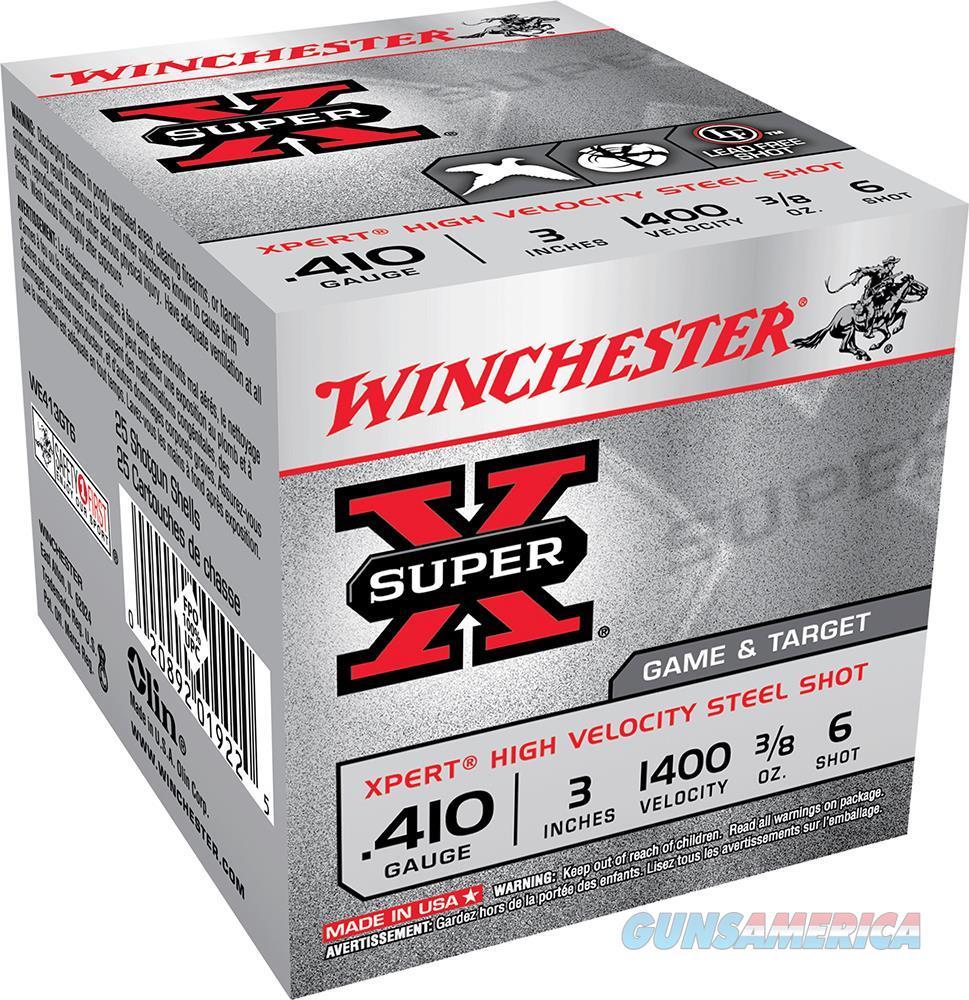 """Winchester Ammo We413gt6 Expert 410 Gauge 3"""" 3/8 Oz 6 Shot 25 Bx/10 Cs WE413GT6  Non-Guns > Ammunition"""