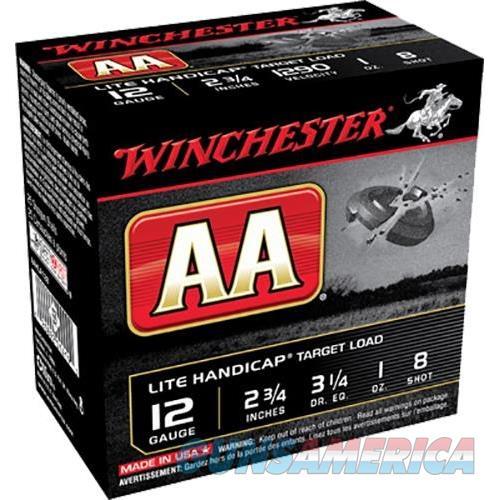 Winchester Aa Lite Handicap 12Ga 2.75'' 1 Oz. #8 25/Bx AAHLA128  Non-Guns > Ammunition