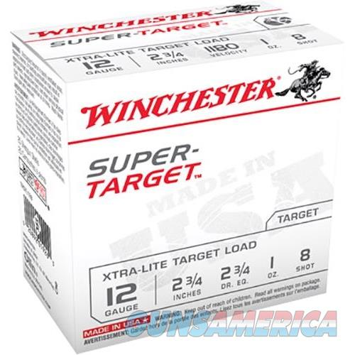 "Winchester Ammo Trgtl128 Super Target 12 Gauge 2.75"" 1 Oz 8 Shot 25 Bx/ 10 TRGTL128  Non-Guns > Ammunition"