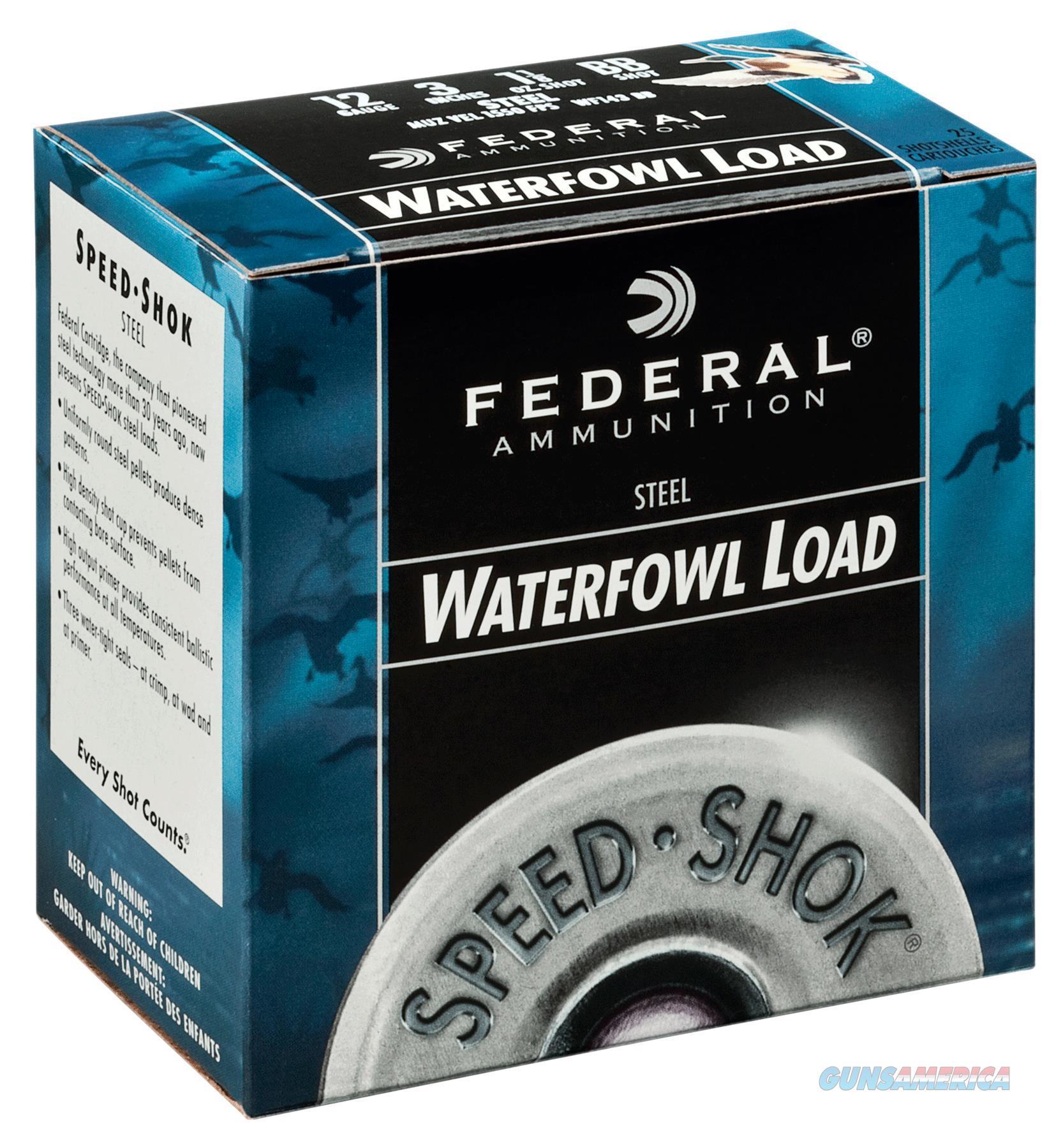 """Federal Wf1431 Speed-Shok 12 Gauge 3"""" 1-1/8 Oz 1 Shot 25 Bx/ 10 Cs WF1431  Non-Guns > Ammunition"""