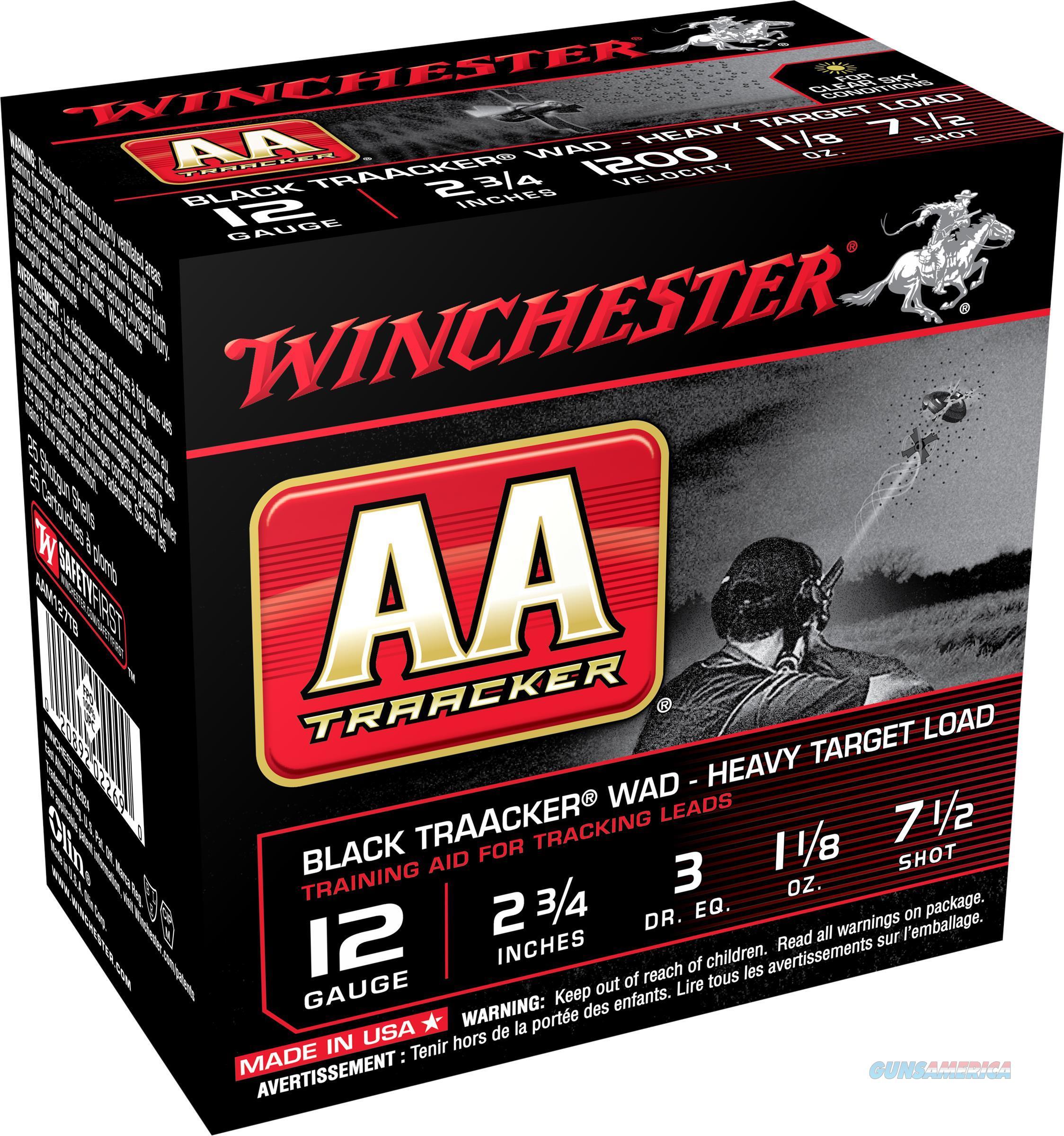 Winchester Aa Traacker Blk 12Ga 2.75 #7 1/2 1 1/8 25/10 AAM127TB  Non-Guns > Ammunition