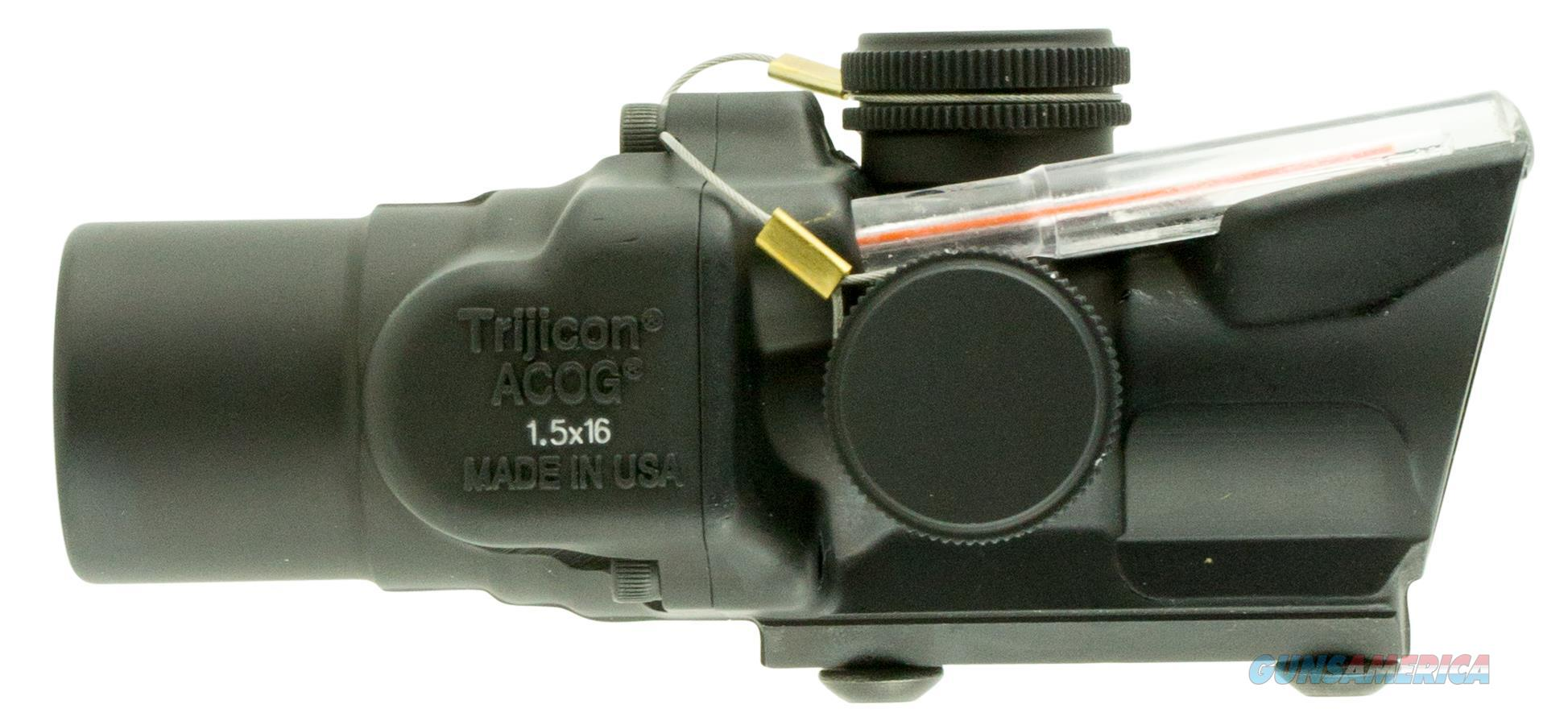 Trijicon 400241 Acog 1.5X 16Mm Obj 39 Ft @ 100 Yds Fov Black Dual Illuminated Ring 2 Moa Dot Red 400241  Non-Guns > Iron/Metal/Peep Sights