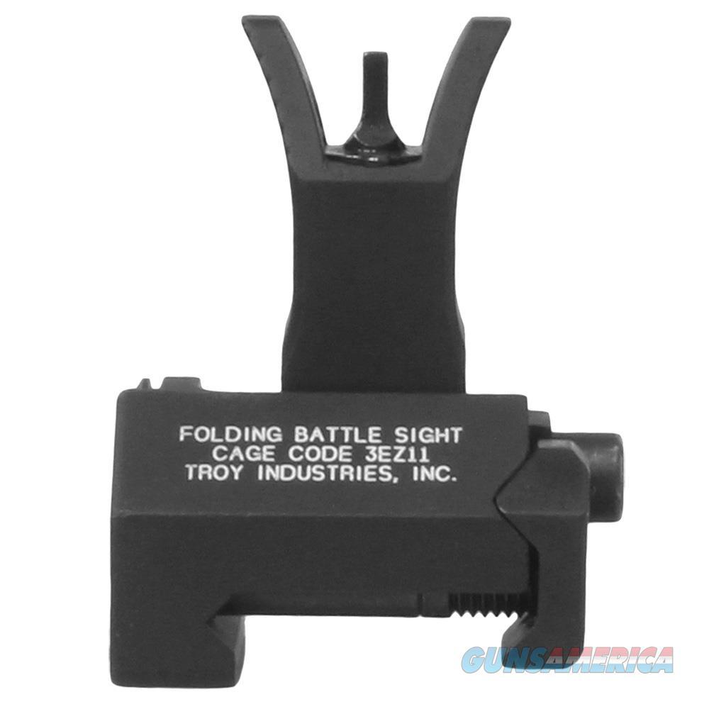 Troy Ind Fbsfmbt00 Battlesight Front Folding M4 Picatinny Rail Aluminum Black Hardcoat Anodized SSIG-FBS-FMBT-00  Non-Guns > Iron/Metal/Peep Sights