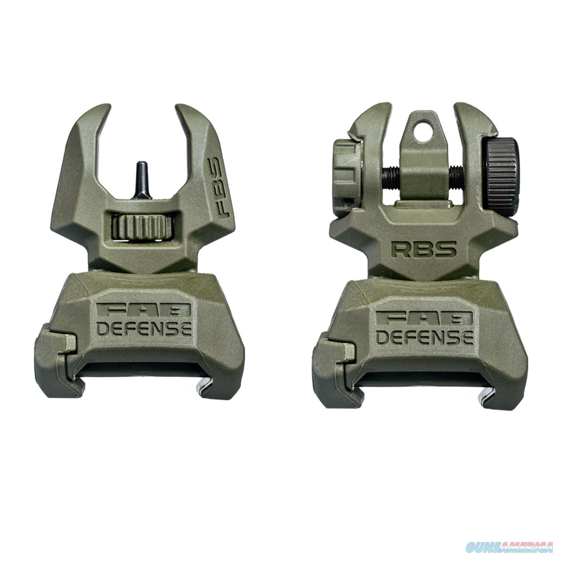 Mako Group Set Of Flip-Up Sights (Front And Rear) With Tritium FRBS M2D-OD  Non-Guns > Iron/Metal/Peep Sights