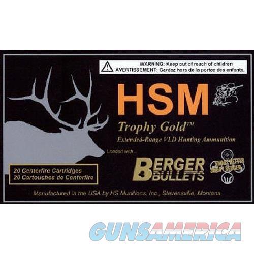 Hsm Ber338rum300 Trophy Gold 338 Rum Otm 300 Gr 20Rds BER338RUM300  Non-Guns > Ammunition