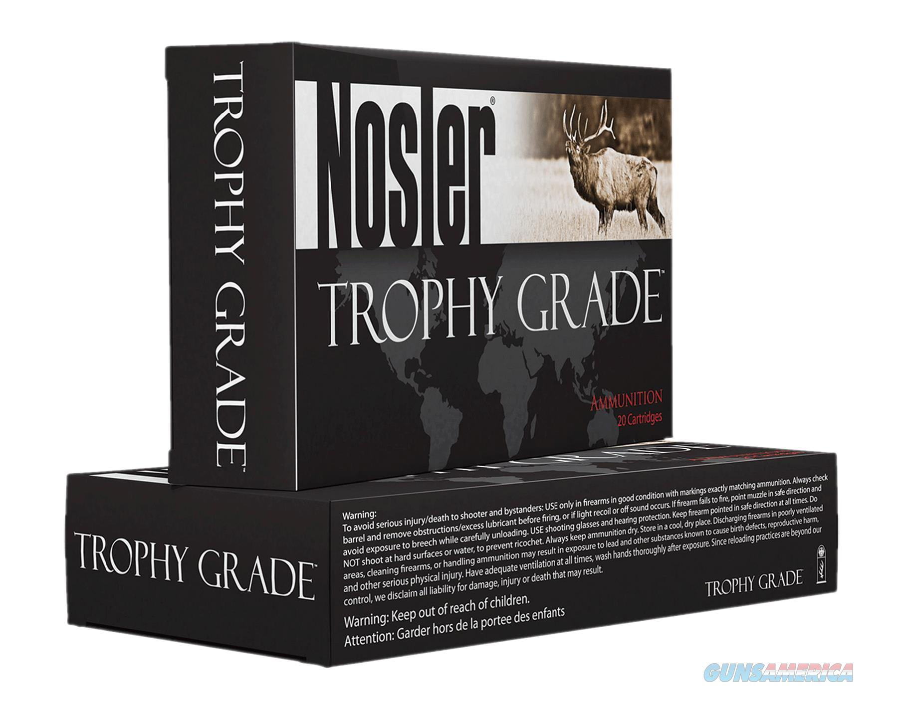 Nosler 49323 Trophy 338 Lapua Mag 300Gr Accubond 20Bx/10Cs Brass 49323  Non-Guns > Ammunition