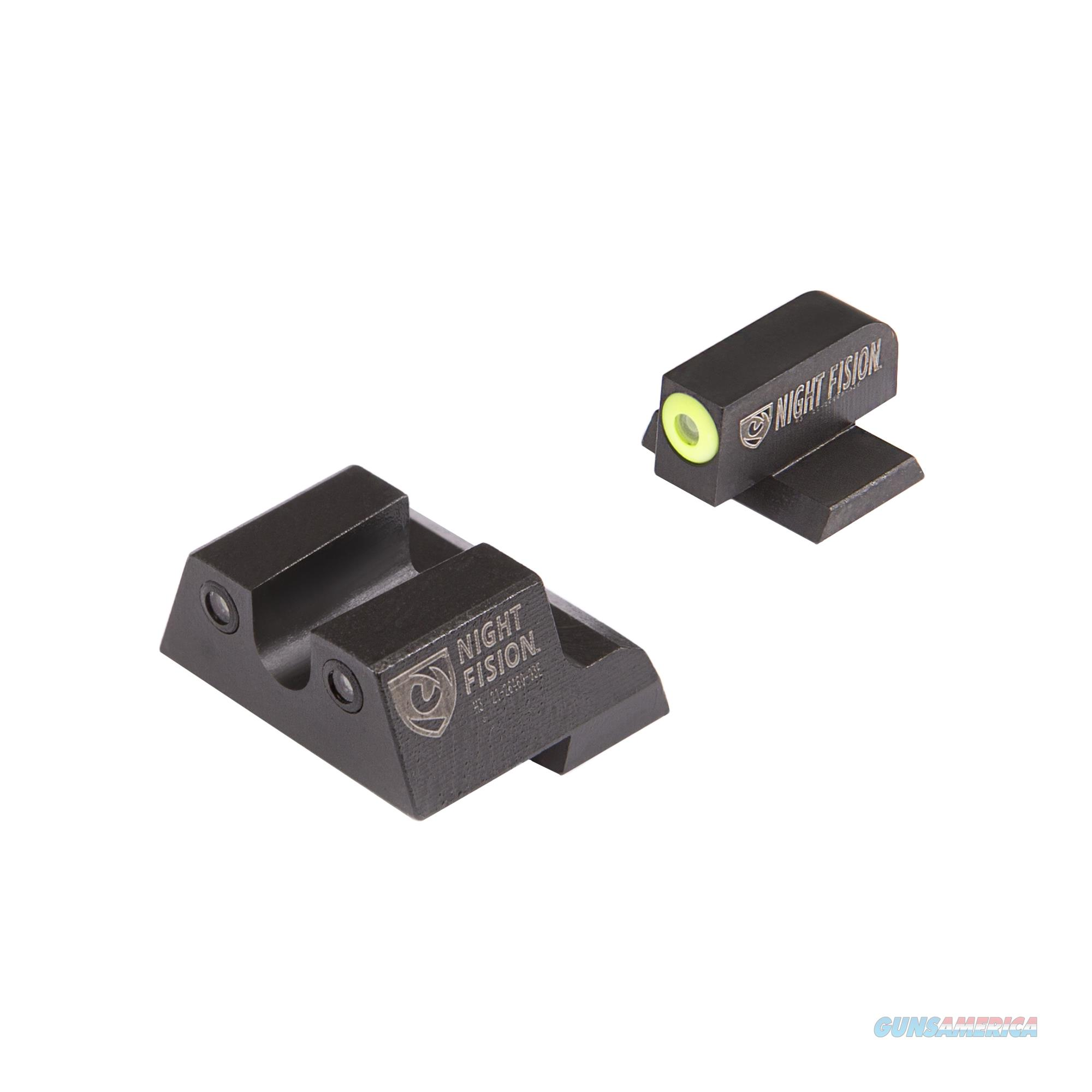 Night Fision Perfect Dot Night Sight Set, Canik Tp9sf Elite, Tp9sf, And Tp9sa CNK-027-007-YGZG  Non-Guns > Gun Parts > Misc > Rifles