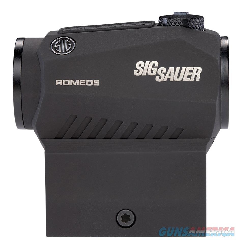 Sig Sauer Electro-Optics Sor52001 Romeo5 1X 20Mm Obj 2 Moa Red Dot Graphite Cr2032 Lithium SOR52001  Non-Guns > Iron/Metal/Peep Sights