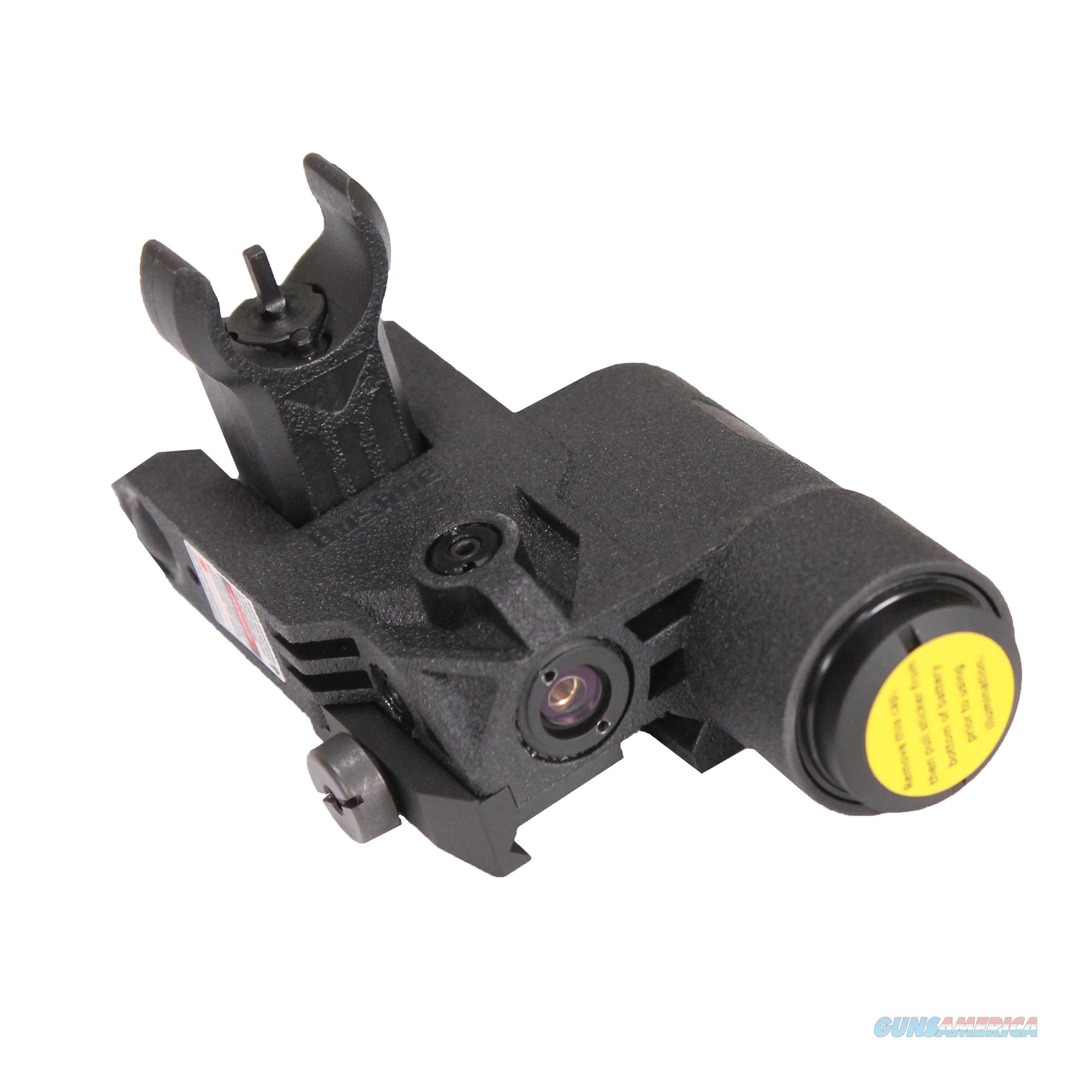 Bushnell Ar Optics Chase Flip-Up Front Sight Ar-15, Integrated Red Laser Sight, Matte Blk AR1002BR  Non-Guns > Iron/Metal/Peep Sights
