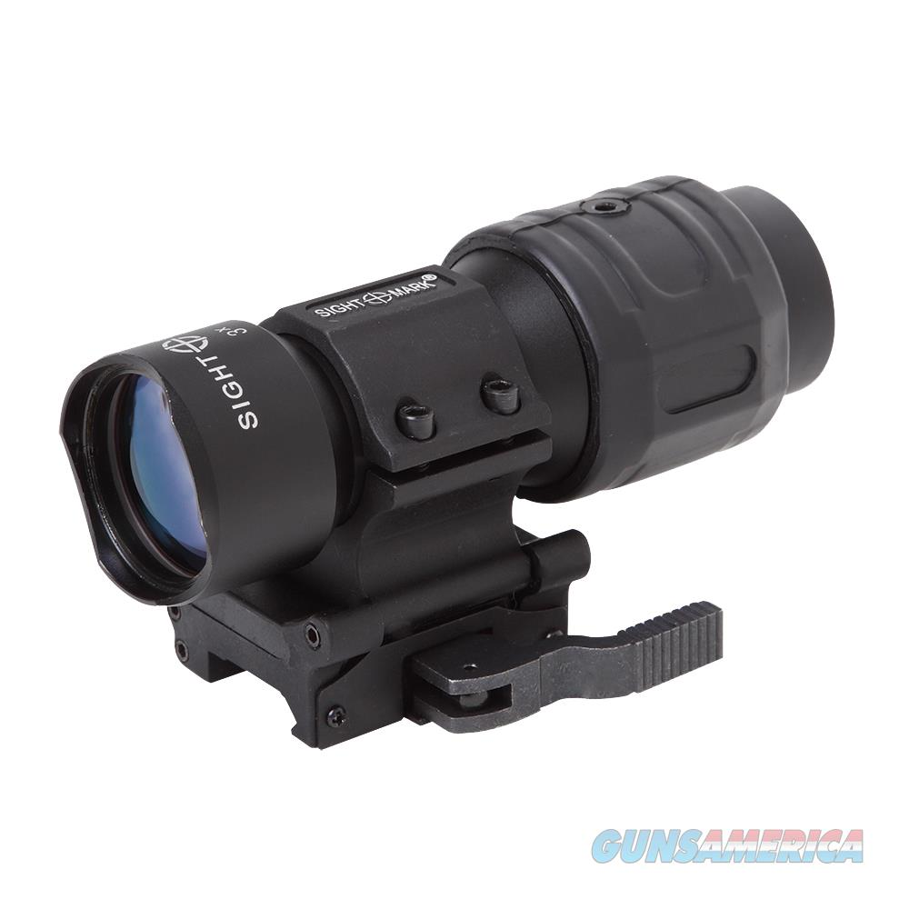 Sightmark 3X Tactical Magnifier Slide To Side, Black, Clam Package SM19024-CLM  Non-Guns > Iron/Metal/Peep Sights
