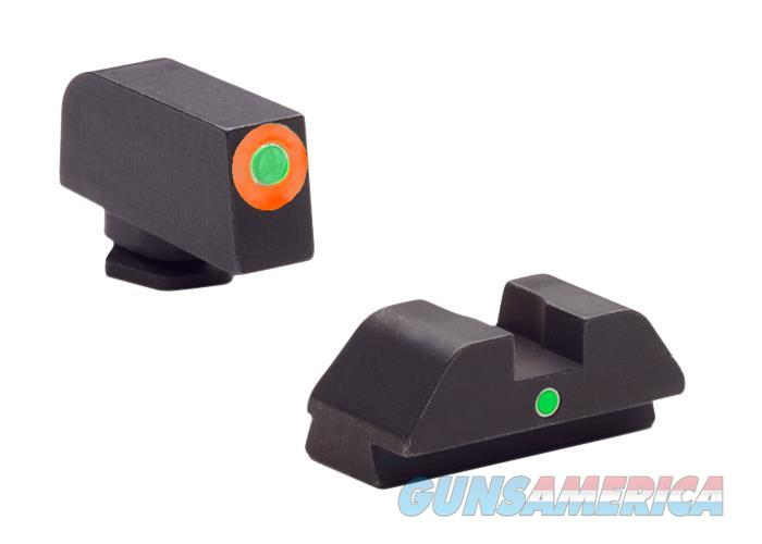 Ameriglo Gl205 I-Dot Night Sight Glock 42/43 Tritium Green W/Orange Outline Steel Green Black GL205  Non-Guns > Iron/Metal/Peep Sights