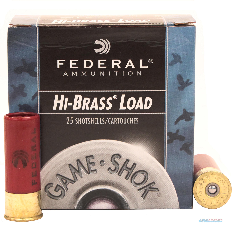 Federal Game Shok Hi Brass 12Ga 2.75'' 1-1/4Oz #5 25/Bx H126 5  Non-Guns > Ammunition