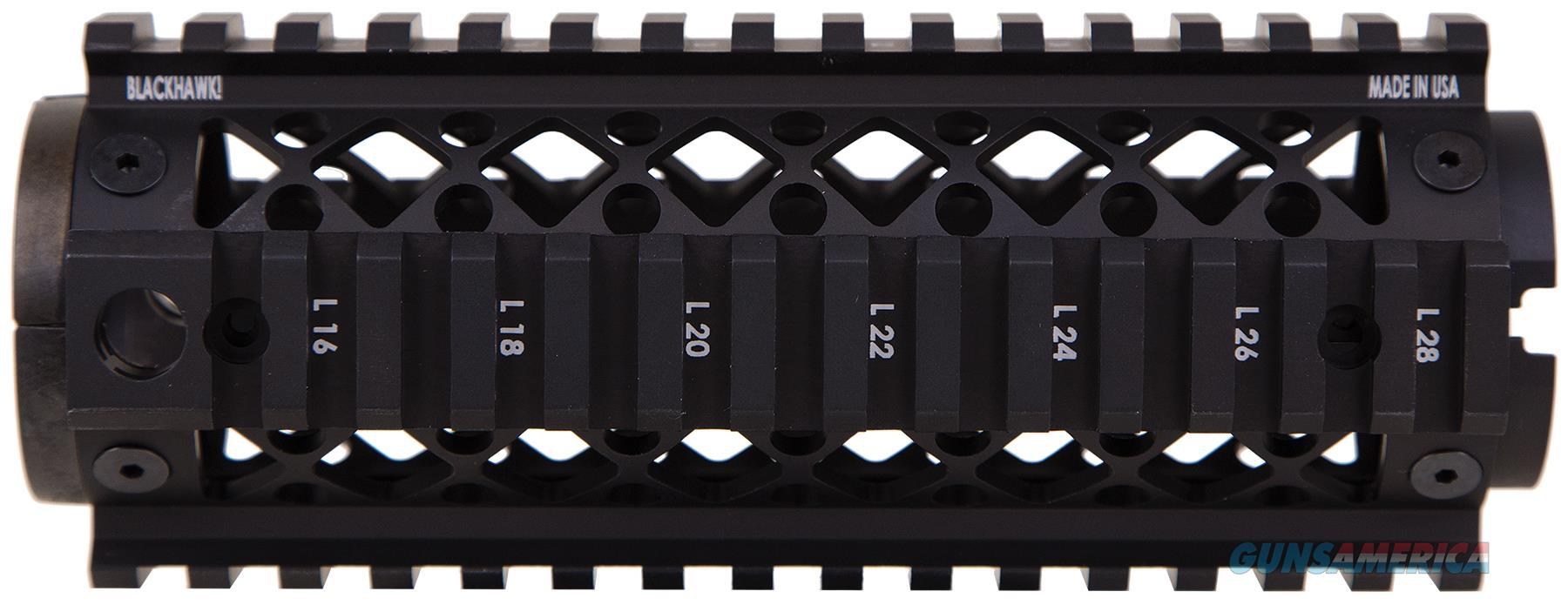 Blackhawk 71Qf01bk 2-Piece Ar Quad Rail Aluminum Black 71QF01BK  Non-Guns > Gunstocks, Grips & Wood