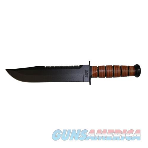Ka-Bar Big Brother Fixed 9.3 In Black Blade Leather Handle 2217  Non-Guns > Knives/Swords > Knives > Fixed Blade > Imported