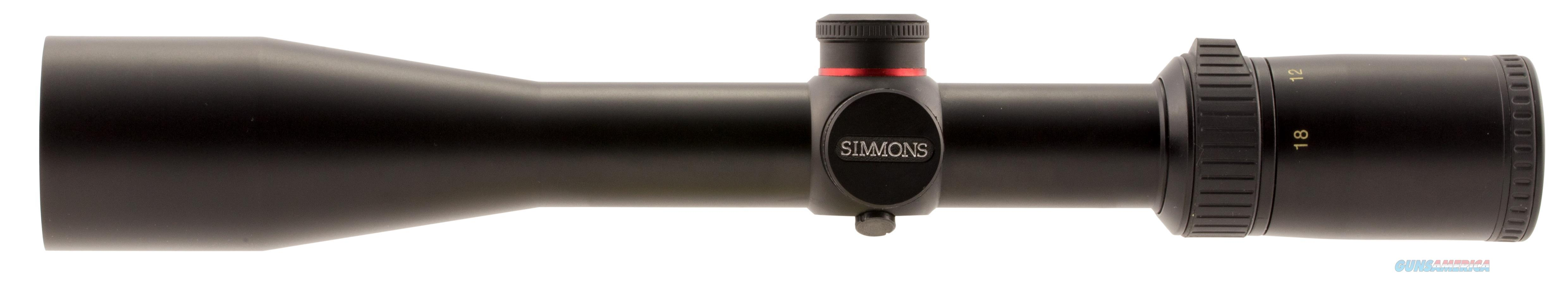 Simmons 654518 Predator/Varmint 4.5-18X 44Mm Obj 19.5-5 Ft @ 100 Yds Fov 30Mm Tube Black Matte Truplex 654518  Non-Guns > Scopes/Mounts/Rings & Optics > Rifle Scopes > Variable Focal Length
