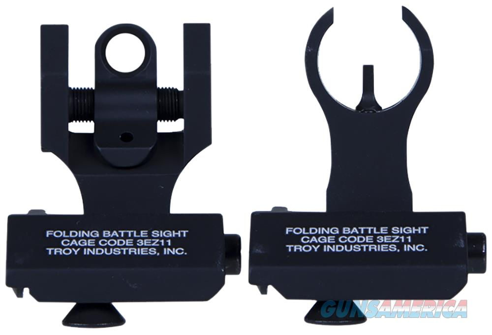 Troy Ind Ssig45shrbt 45 Degree Folding Battlesights Hk Front And Round Rear Blk SSIG-45S-HRBT-00  Non-Guns > Iron/Metal/Peep Sights