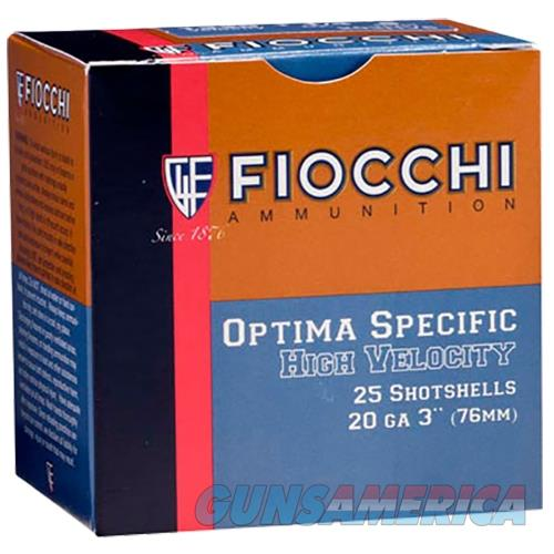 "Fiocchi 203Hv8 High Velocity 20 Ga 3"" 1-1/4 Oz 8 Shot 25 Bx/ 10Cs 762344707969  Non-Guns > Ammunition"