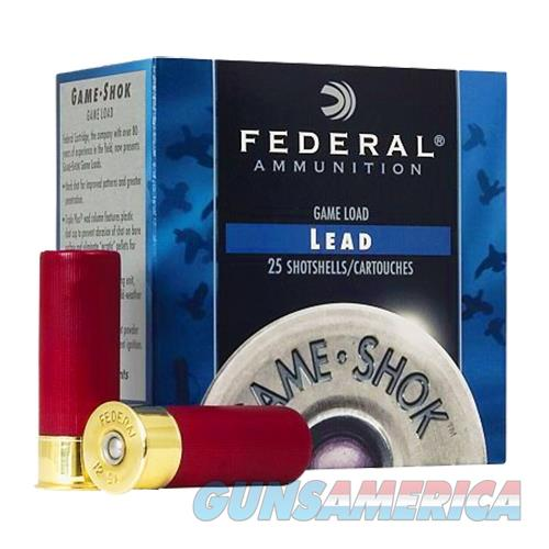 "Federal H12675 Game-Shok High Brass Lead 12 Gauge 2.75"" 1-1/4 Oz 7.5 Shot 25 Bx/ 10 H12675  Non-Guns > Ammunition"