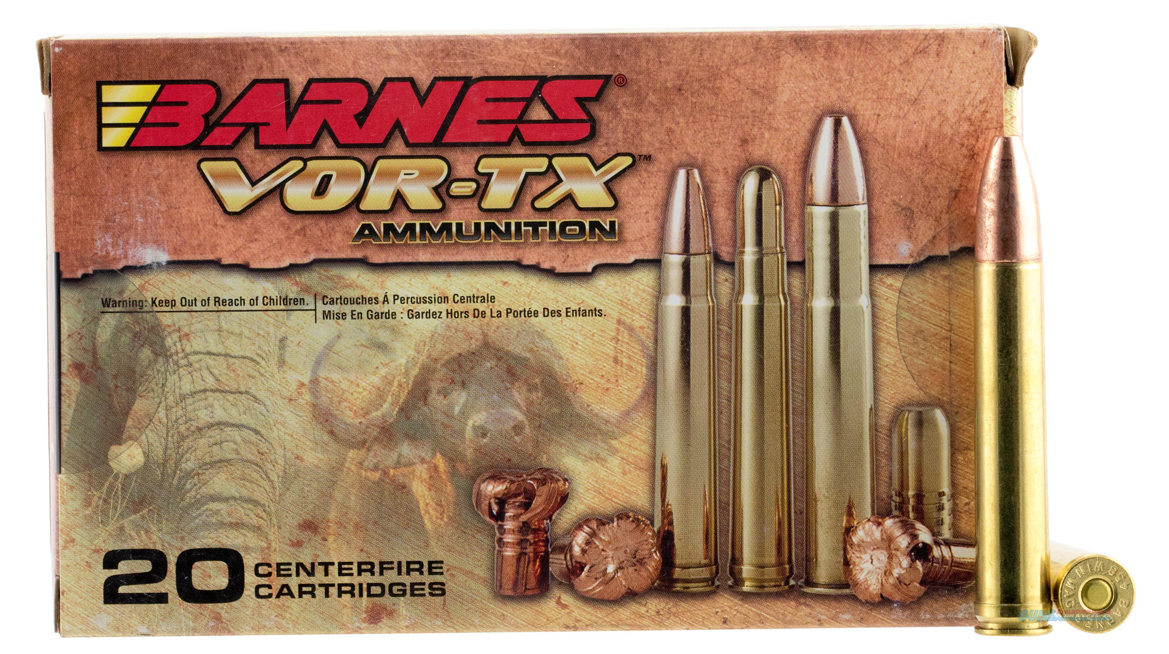 Barnes 22022 Vor-Tx 458 Winchester Magnum Tsx Flat Base 450 Gr 20Box/10Case 22022  Non-Guns > Ammunition
