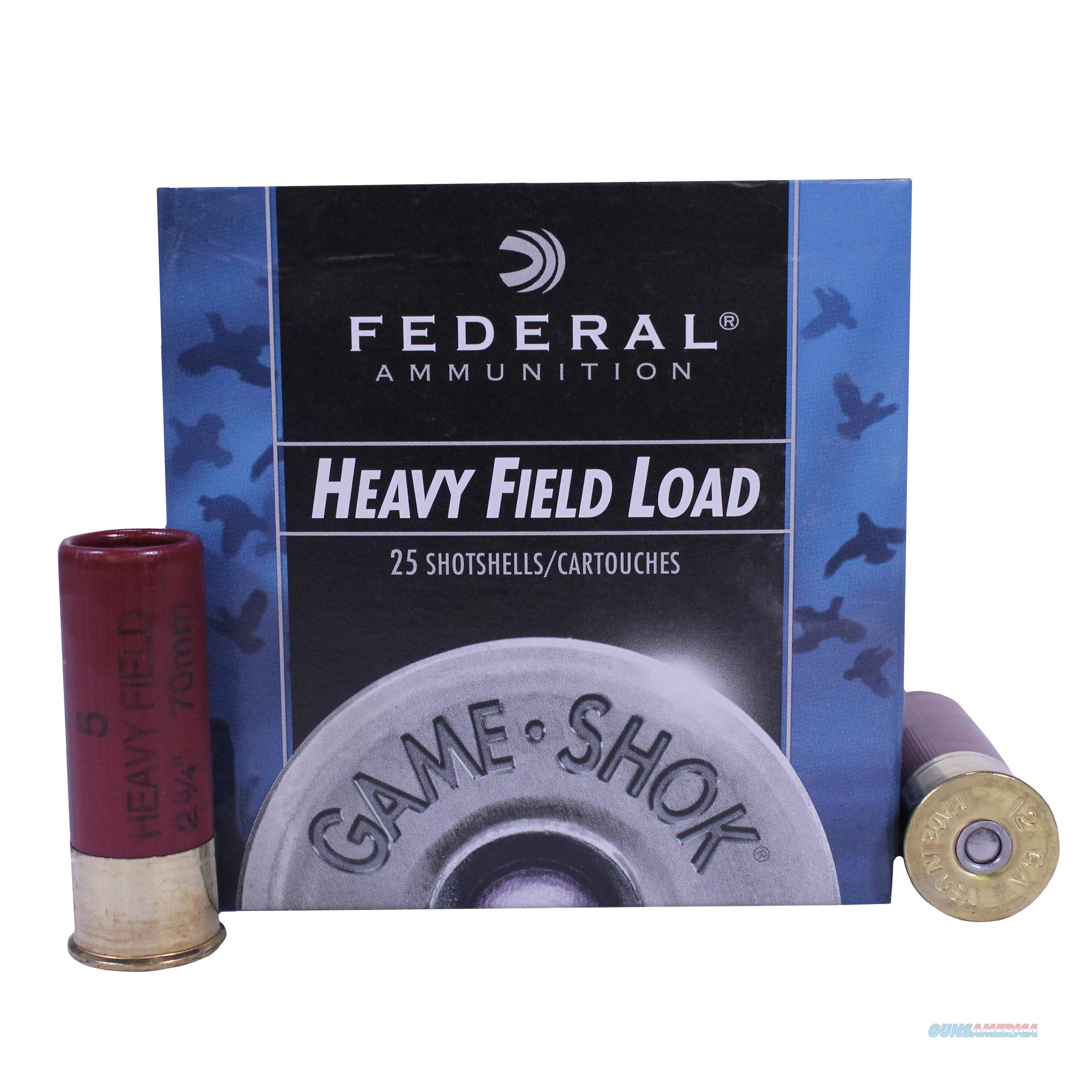 "Federal H1255 Game-Shok Upland  12 Gauge 2.75"" 1-1/4 Oz 5 Shot 25 Bx/ 10 Cs H125 5  Non-Guns > Ammunition"