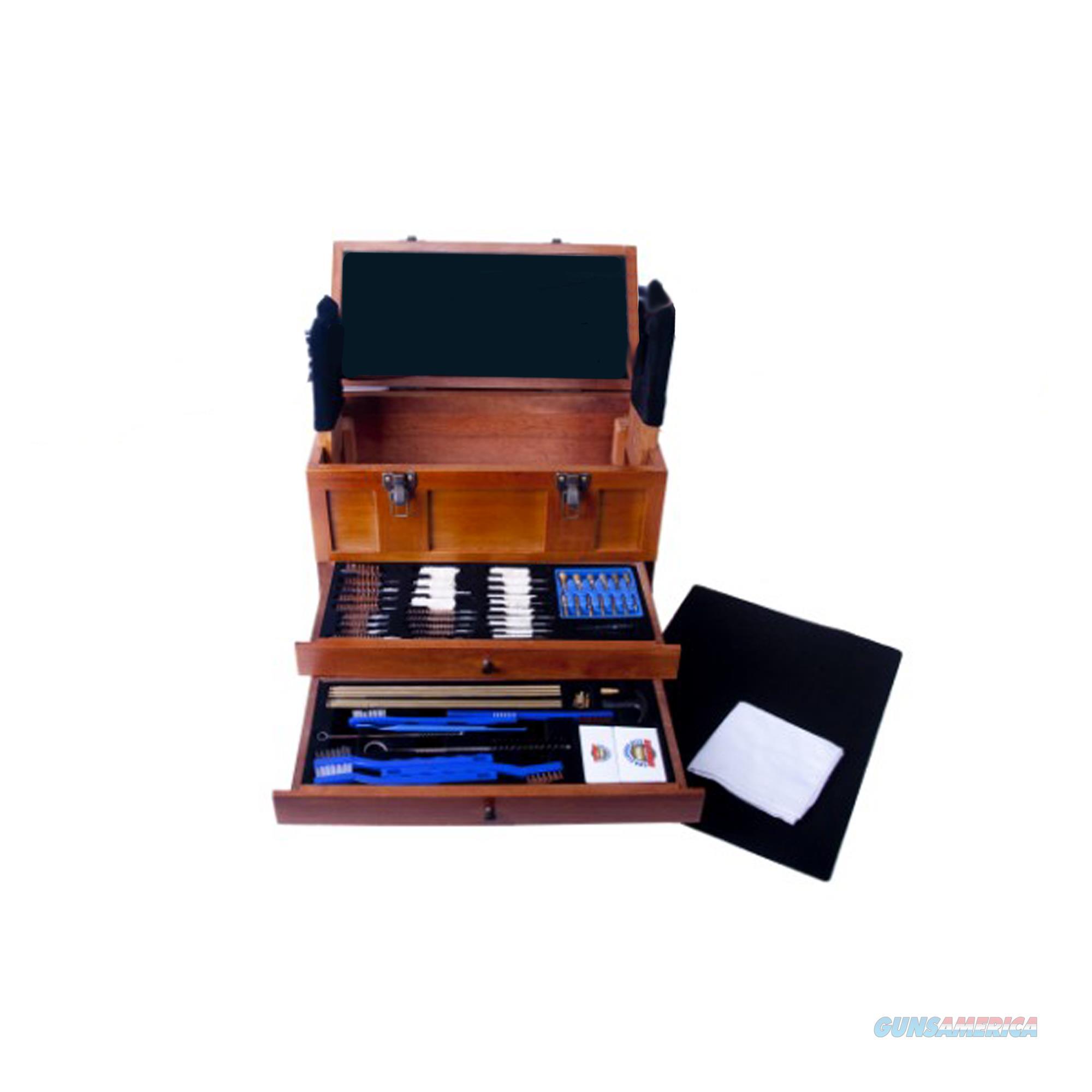 Dac Technologies Wooden Toolbox With Universal Gun Cleaning Kit TBX 96-W  Non-Guns > Gunsmith Tools/Supplies