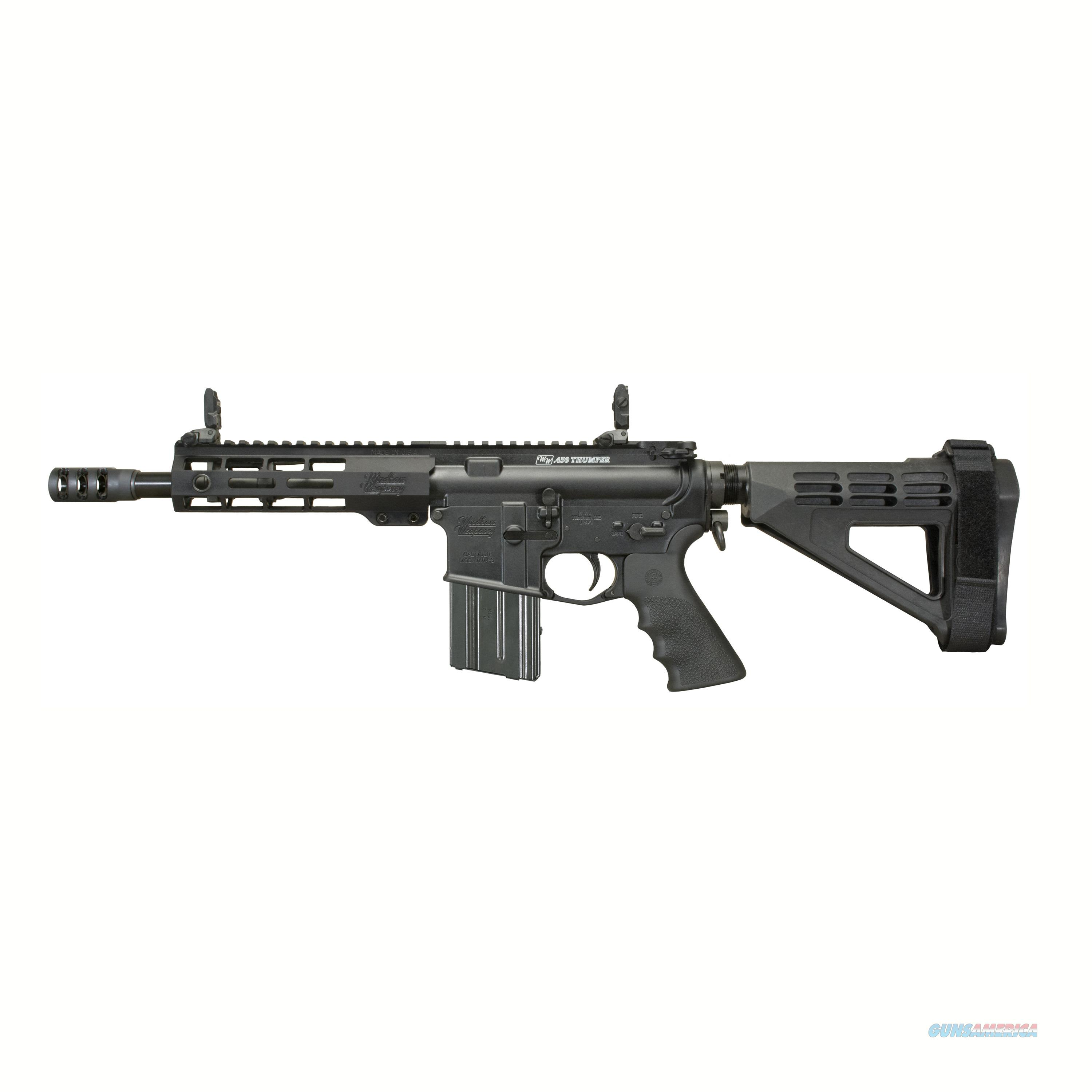 "Windham Weaponry 450 Bushmaster, 9"" Barrel, 5 Rounds, Magpul Mbus Sights RP9SFS-450M  Guns > Pistols > W Misc Pistols"