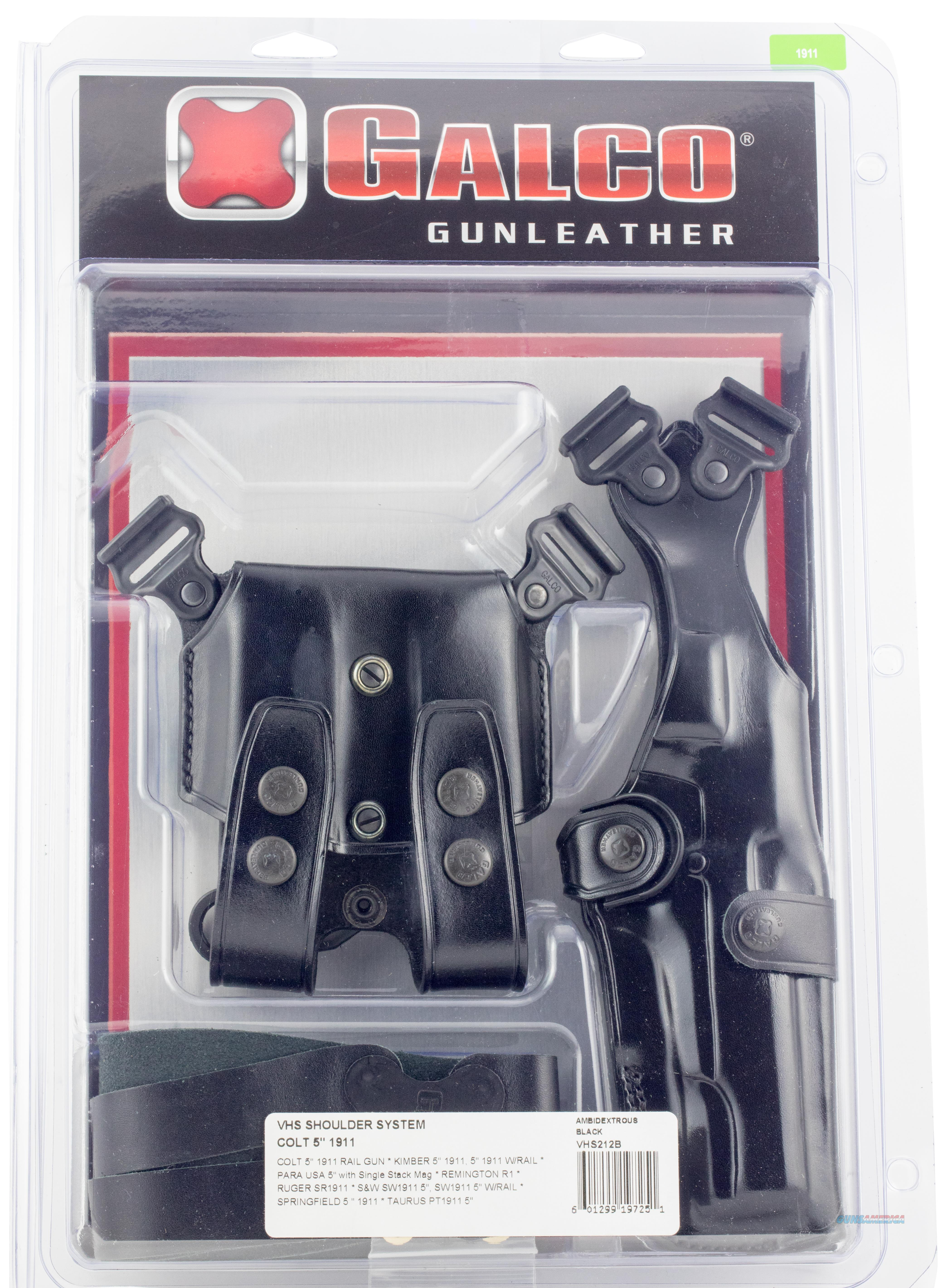 Galco Vhs212b Vertical Shoulder 212B Adjustable Black Leather VHS212B  Non-Guns > Holsters and Gunleather > Other