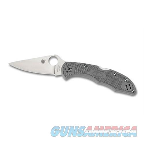Spyderco Spyderco Delica4 Ffg Plainedge Grey C11FPGY  Non-Guns > Knives/Swords > Knives > Fixed Blade > Imported