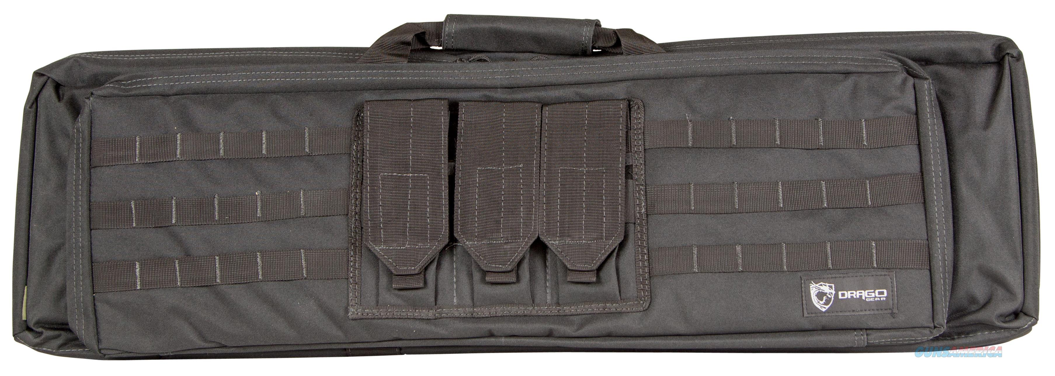 "Drago Gear 12306Bl Xt Double Gun Case 600D Polyester Black 36.25"" X 11"" X 4.5"" Exterior 12-306BL  Non-Guns > Gun Cases"
