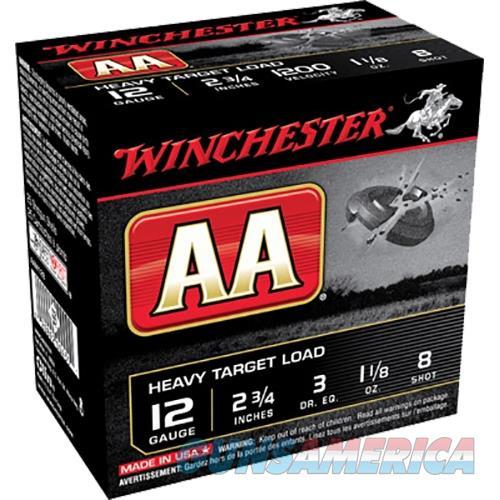 Winchester Aa Heavy Target 12Ga 2.75'' 1-1/8Oz #8 25/Bx AAM128  Non-Guns > Ammunition