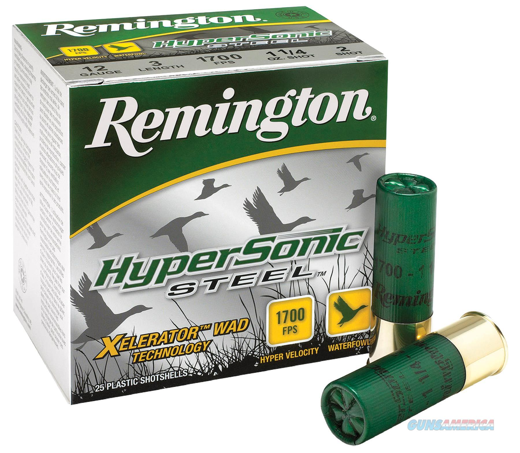 "Remington Hss1235b Hypersonic Steel 12 Ga 3.5"" 1-3/8 Oz Bb Shot 25Box/10Case HSS1235B  Non-Guns > Ammunition"