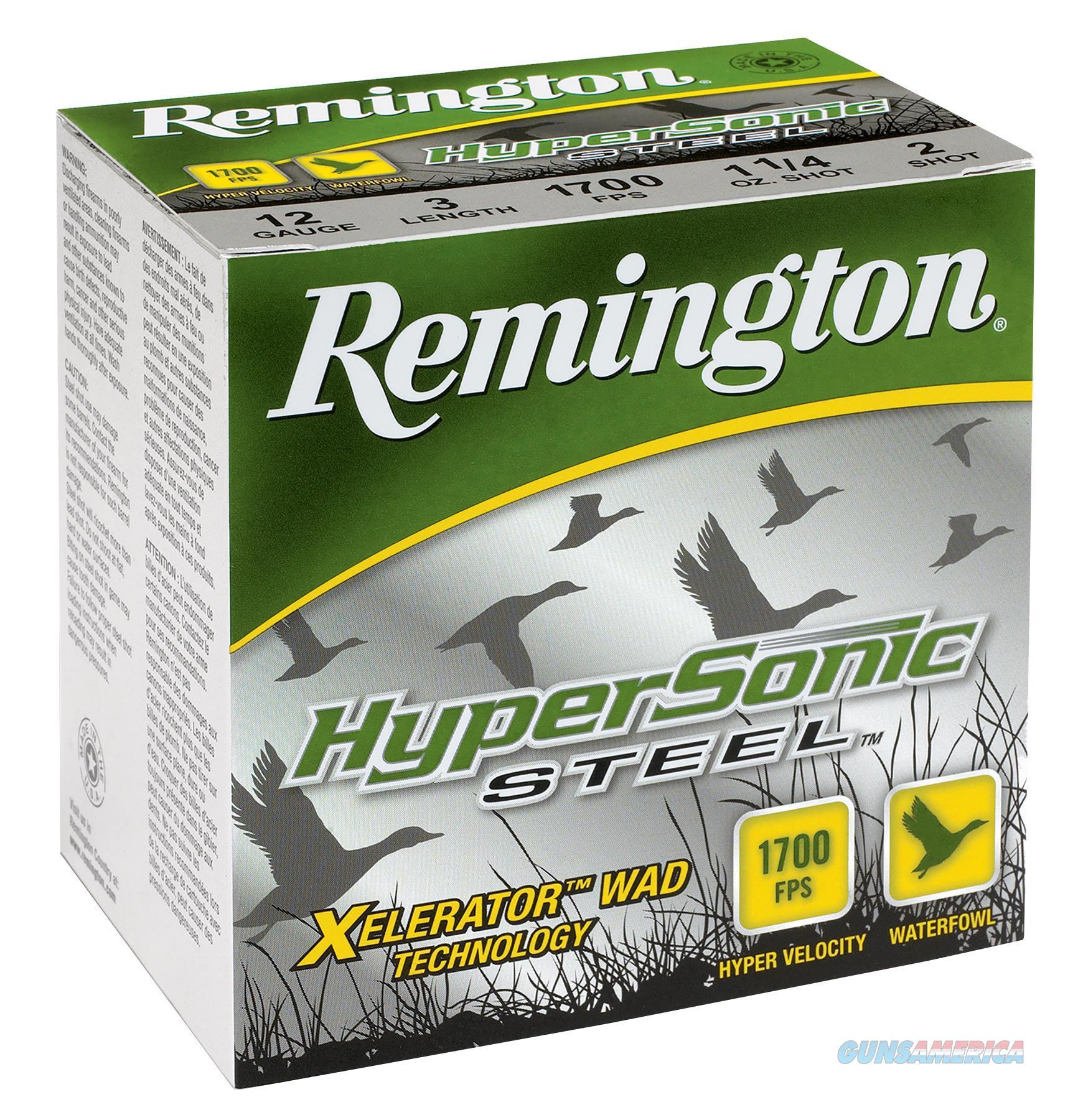 "Remington Hss20m4 Hypersonic Steel 20 Ga 3"" 7/8 Oz 4 Shot 25Box/10Case HSS20M4  Non-Guns > Ammunition"