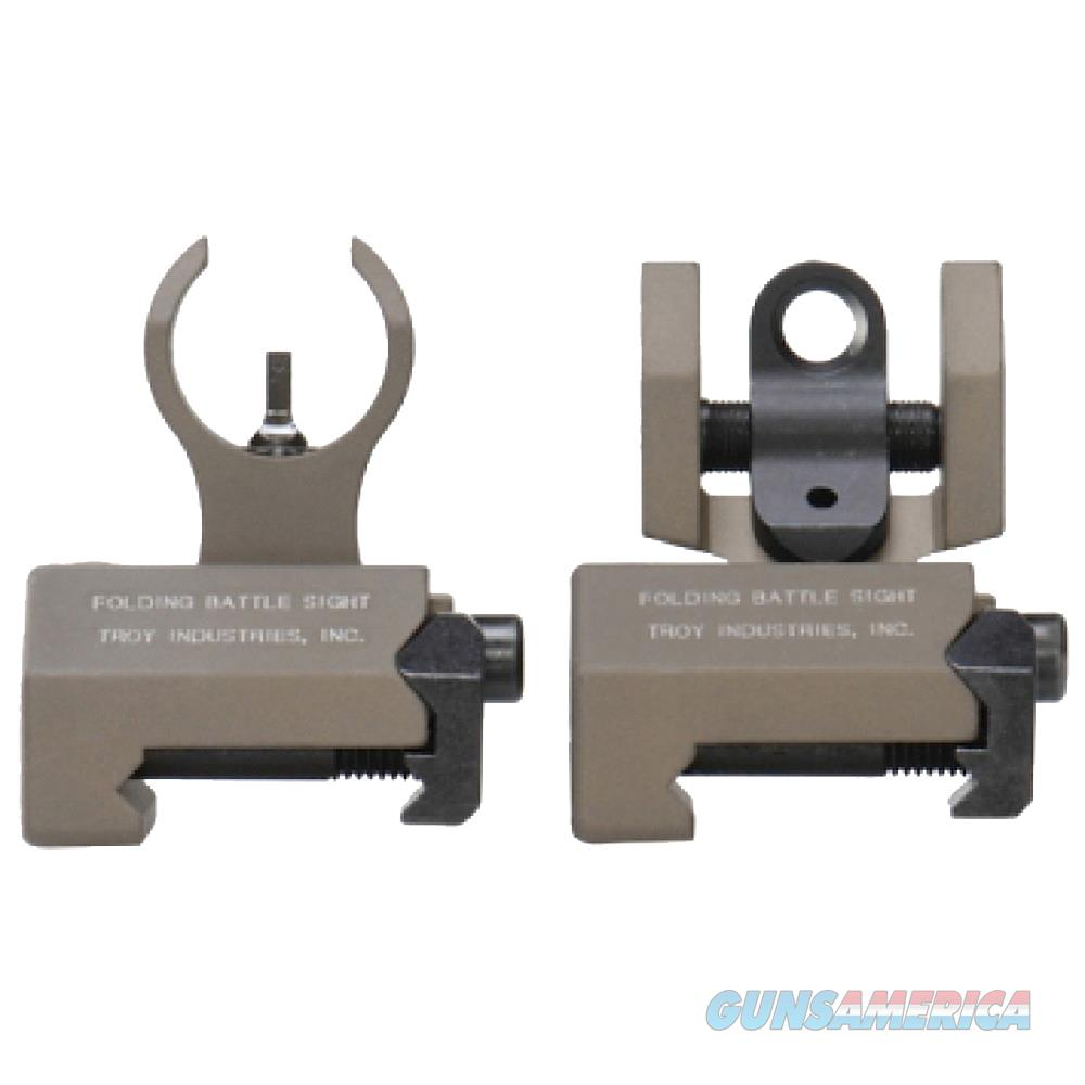 Troy Ind Ssigiarsmft Battlesight Micro Set Hk Front/Round Rear Weapons W/Raised Top Rail Picatinny Mount Aluminum Fde SSIGIARSMFT  Non-Guns > Iron/Metal/Peep Sights