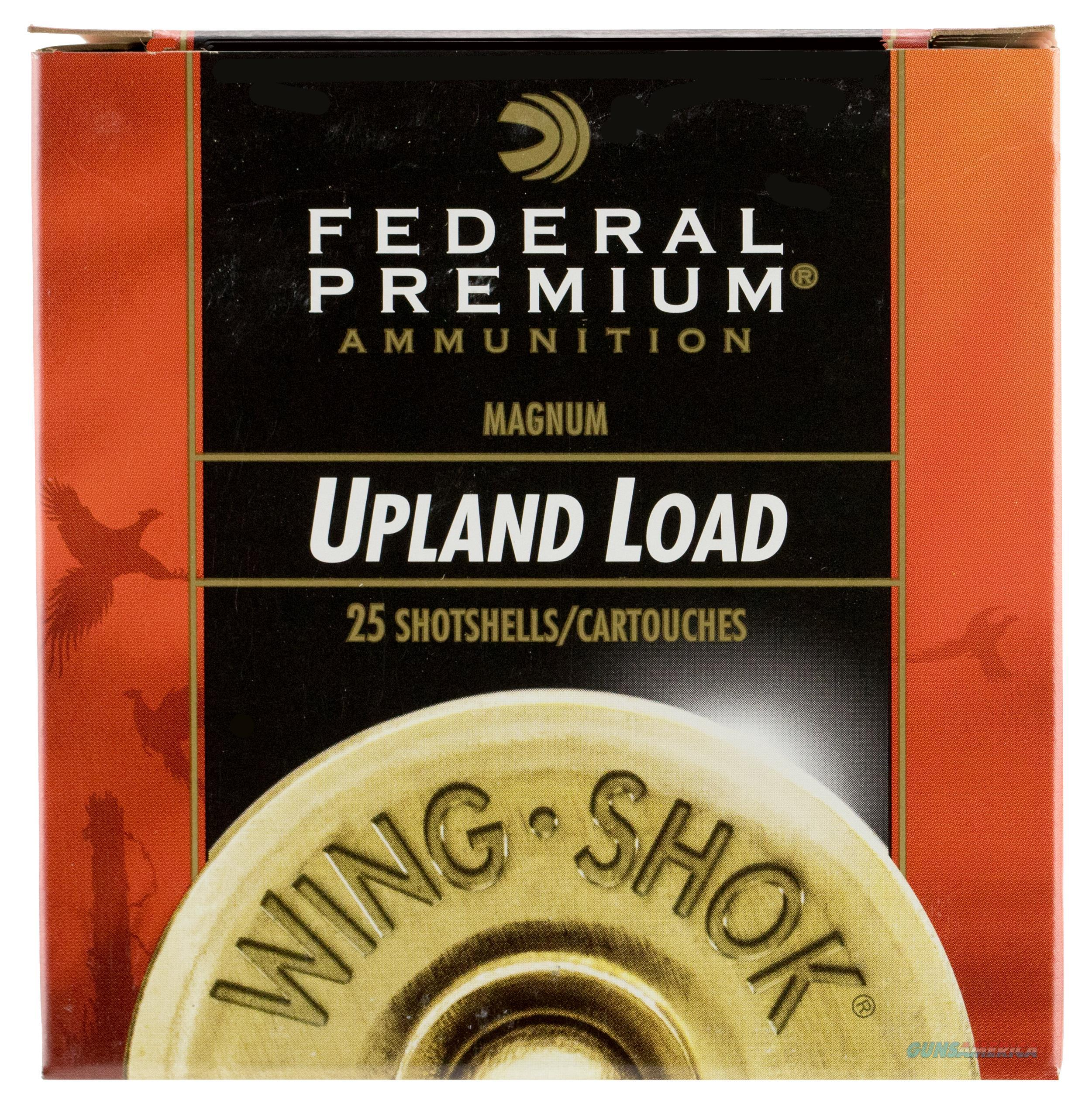"Federal P1296 Premium Upland Wing-Shok High Velocity 12 Gauge 3"" 1-5/8 Oz 6 Shot 25 Bx/ 10 Cs P129 6  Non-Guns > Ammunition"