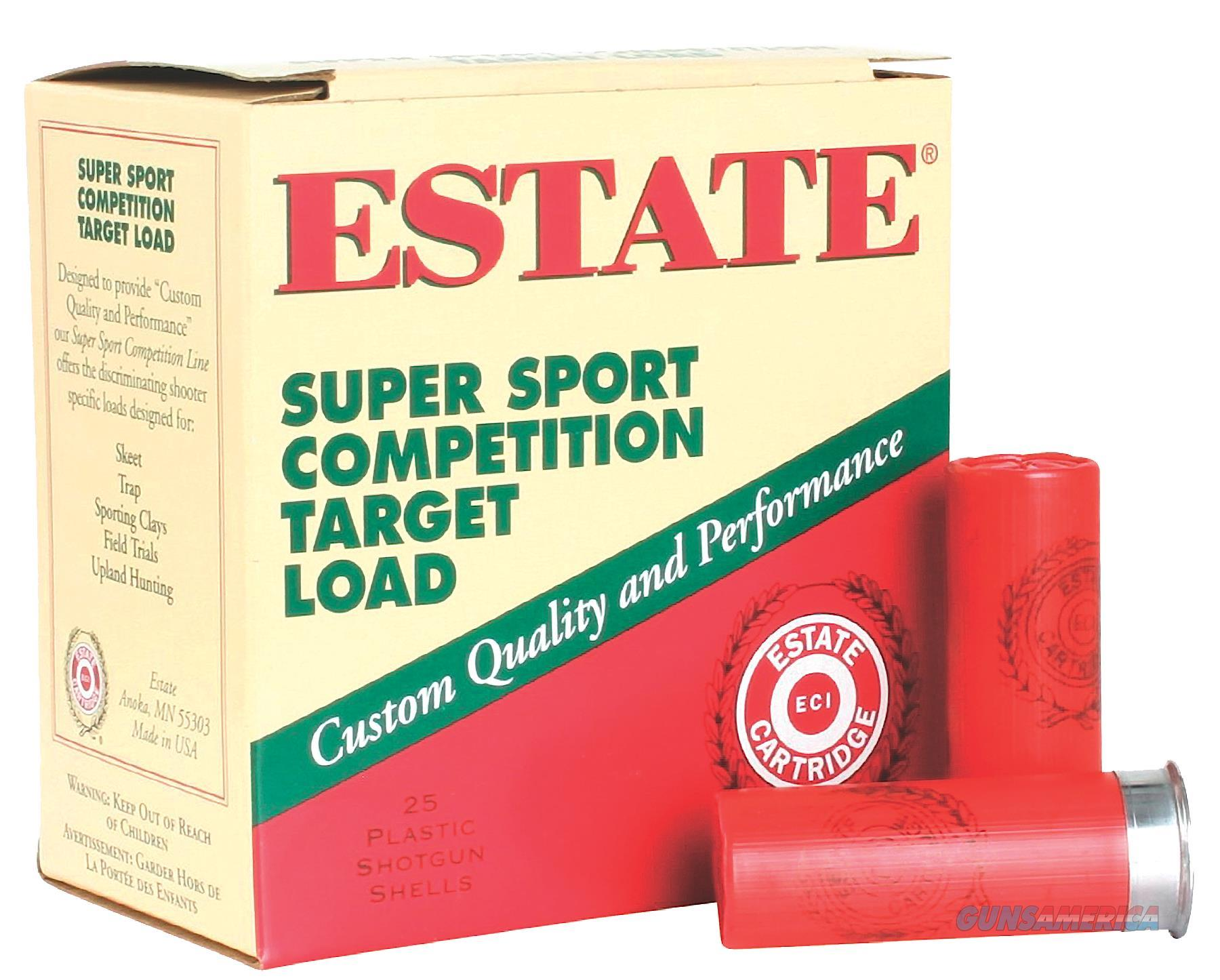"Estate Ss12h1 Super Sport Target 12 Ga 2.75"" 1 Oz 9 Shot 25Box/10Case SS12H1  Non-Guns > Ammunition"