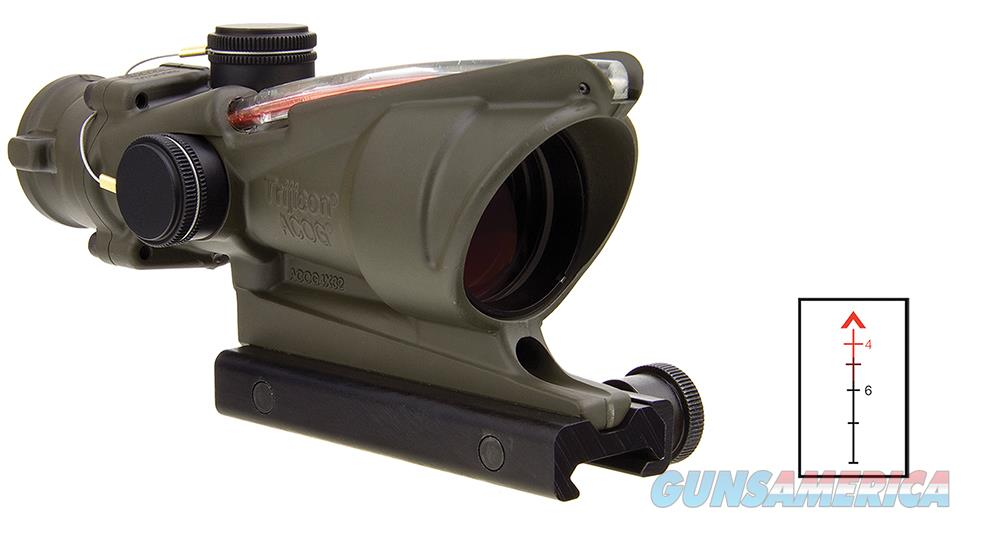 Trijicon 100309 Acog 4X 32Mm Obj 36.8 Ft @ 100 Yds Fov  Od Green Dual Illuminated Red Chevron 100309  Non-Guns > Scopes/Mounts/Rings & Optics > Rifle Scopes > Variable Focal Length
