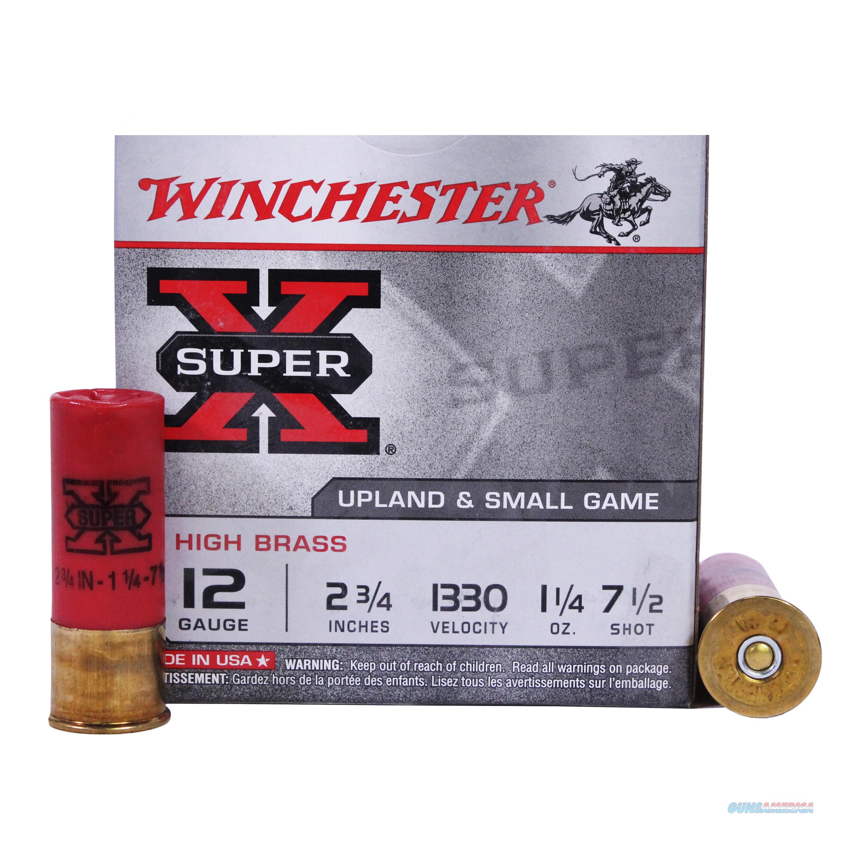 Winchester Super-X High Brass 12Ga 2.75'' 1-1/4Oz #7.5 25/Bx X127  Non-Guns > Ammunition
