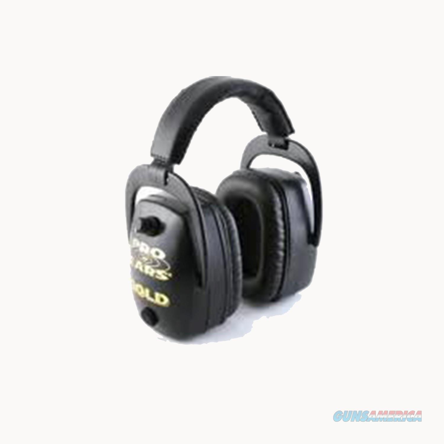 Pro Ears Pro Mag Gold Series Ear Muffs Black Gs-Dpm-B GSDPMBLACK  Non-Guns > Hunting Clothing and Equipment > Clothing > Camo Outerwear