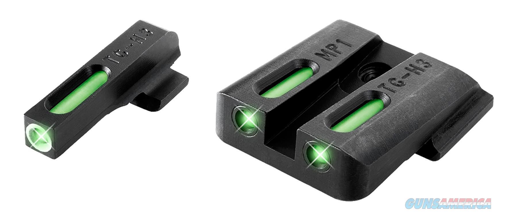 Truglo Tg13mp1a Tfx Day/Nigth Sights S&W M&P Tritium/Fiber Optic Green W/White Outline Front Green Rear Black TG13MP1A  Non-Guns > Iron/Metal/Peep Sights