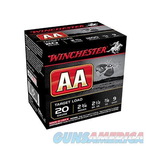 Winchester Aa Target Load 20Ga 2.75'' 7/8 Oz. #9 25/Bx AA209  Non-Guns > Ammunition