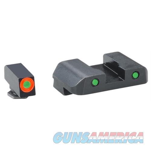 Ameriglo Gl448 Spartan Operator Night Sight Glock 20/21/29/30/31/32/36/40/41 Tritium Green W/Orange Outline Tritium Green W/Black Outline GL448  Non-Guns > Iron/Metal/Peep Sights