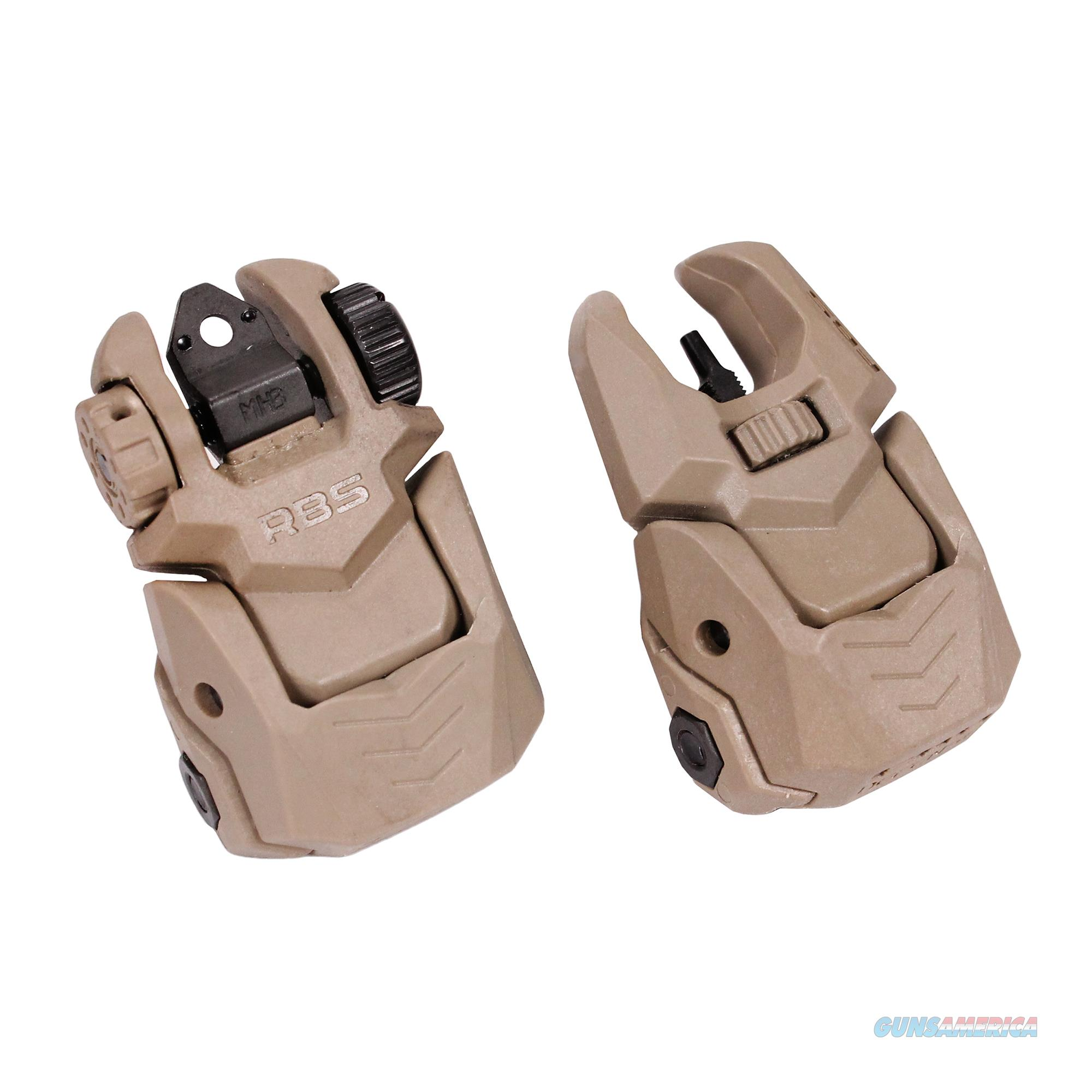 Mako Group Set Of Flip-Up Sights (Front And Rear) With Tritium FRBS M2D-FDE  Non-Guns > Iron/Metal/Peep Sights