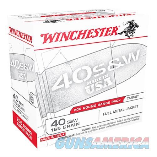 Winchester Ammo Usa40w Usa Centerfire 40 Smith & Wesson (S&W) 165 Gr Full Metal Jacket 200 Bx/ 3 Cs 020892221833  Non-Guns > Ammunition