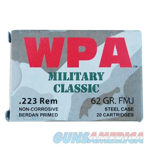 Wolf Mc22362sp Military Classic Rifle 223 Remington/5.56 Nato 62 Gr Soft Point 20 Bx/ 25 Cs 500 Total (Case) MC22362SP  Non-Guns > Ammunition