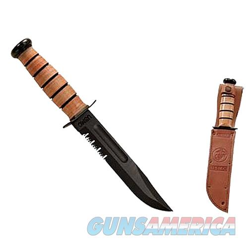 "Kabar 1218 Usmc Fight 7"" 1095 Crovan Serrated Leather Handle & Sheath 2-1218-5  Non-Guns > Knives/Swords > Knives > Fixed Blade > Imported"