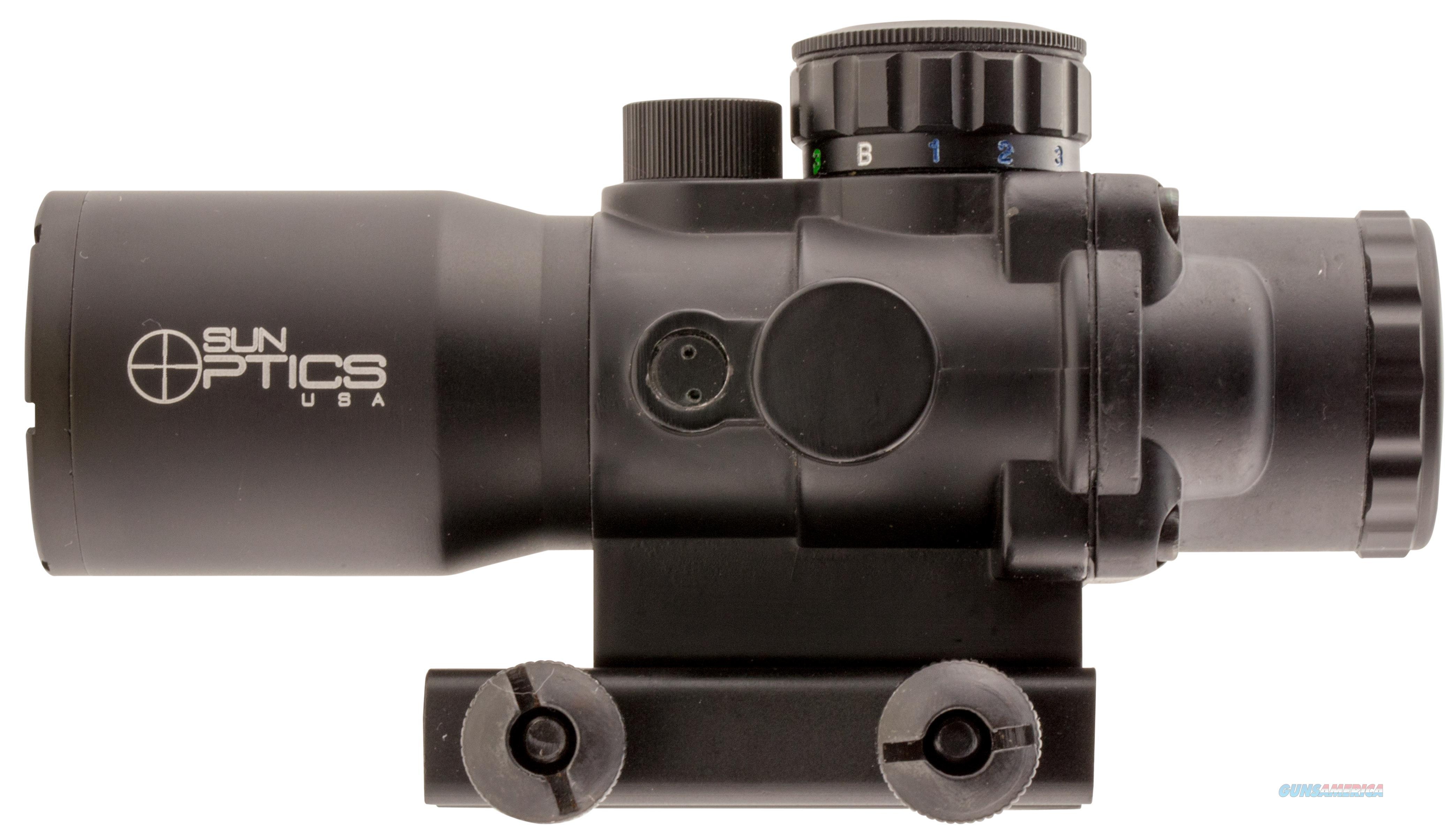 Sun Optics Ps30432ir Tactical Precision 4X 32Mm Obj 20 Ft @ 100 Yds Fov Black Matte Illuminated Mil-Dot, 3 Color PS30432IR  Non-Guns > Scopes/Mounts/Rings & Optics > Mounts > Other